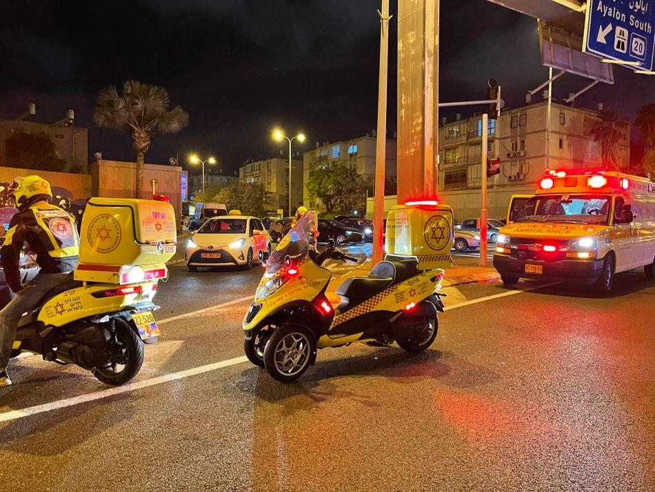 זירת התאונה ברחוב דב הוז צילום תיעוד מבצעי מדא
