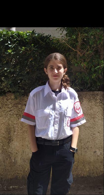 מתנדבת נוער מדא, שירן דמוט – צילום דוברות מדא