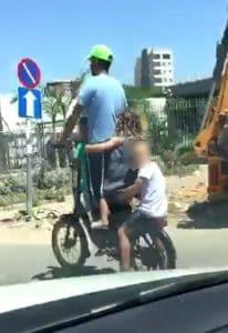 נסיעה מסוכנת ילדים צילום עמותת אור ירוק