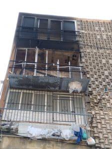 הדירה לאחר הכיבוי- צילום דוברות כבאות והצלה
