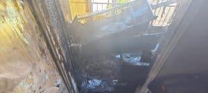 הנזק לדירה- צילום דוברות כבאות והצלה