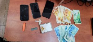 טלפונים כסף תכשיטים רכוש גנוב צילום דוברות משטרת ישראל