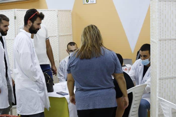מתחם חיסונים באור יהודה. צילום איתן אלחדז ברק