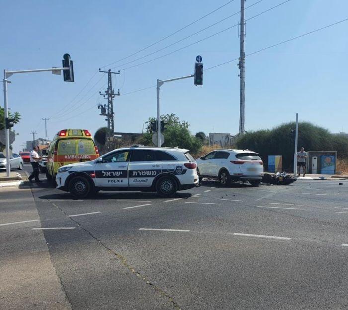 מקום התאונה. צילום דוברות המשטרה