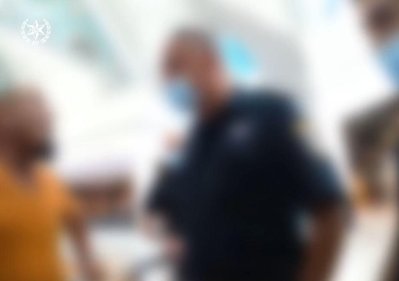 החשוד בעימות עם השוטר- צילום מצלמת גוף- דוברות משטרת ישראל