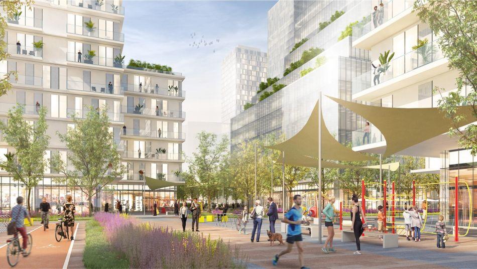 התחדשות עירונית במתחם יוספטל בחולון הדמיות – ישר אדריכלים (1)