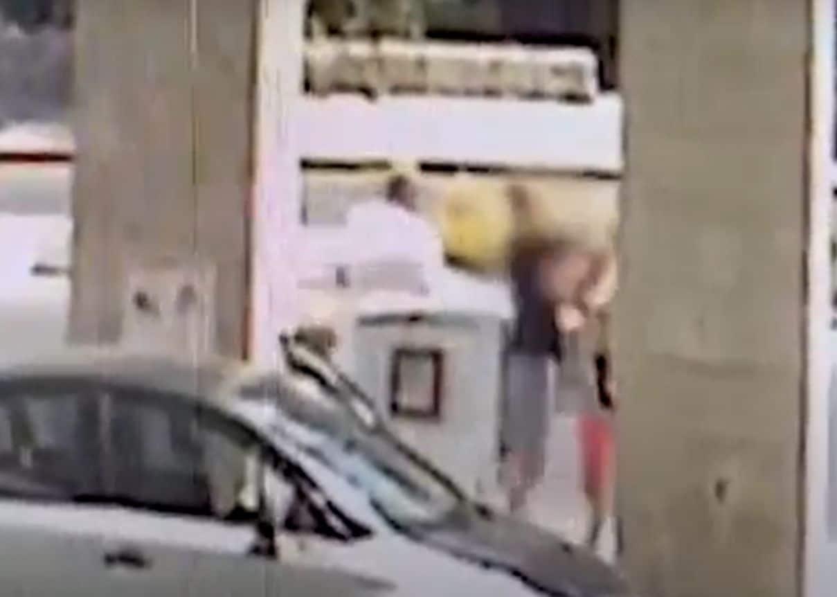 התקיפה בתחנת הדלק- צילום ממצלמת אבטחה, דוברות משטרת ישראל