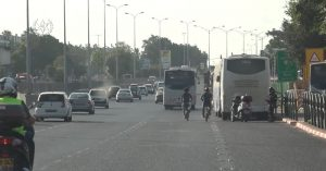 כביש 44 שוטר קטנוע צילום דוברות משטרת ישראל
