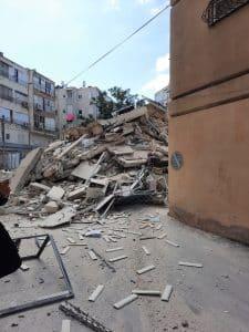 בניין קרס צילום דוברות כבאות והצלה