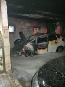 רכב שרוף שריפה צילום צילום דוברות כבאות והצלה מחוז דן