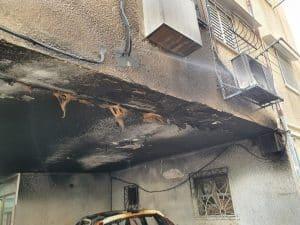 שריפה בניין צילום צילום דוברות כבאות והצלה מחוז דן